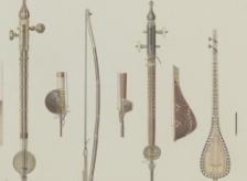 Vases, meubles et instruments extraits de
