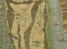 Carte des déserts de la Basse-Thébaïde aux environs des monastères de St Antoine et de St Paul hermites avec le plan des lieux par où les Israëlites ont probablement passé en sortant d'Egypte <br> C. Sicard. 1717