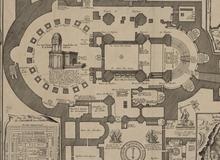 Plan du Saint Sepulchre de nôtre seigneur Jésus-Christ situé en la terre sainte sur le Mont calvaire dans la cité de Jerusalem <br> N. de Fer. 1715