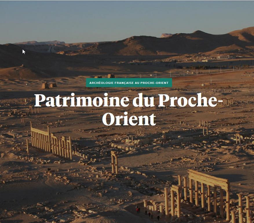 En savoir plus : Patrimoine du Proche-Orient