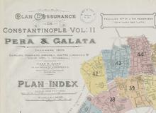 Les plans d'assurance incendie d'Istanbul de Ch. E. Goad et de J. Pervititch