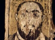 Saint Marc tenant les Évangiles. Panneau en bois peint <br> VIe s.