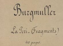 La Péri. Ballet fantastique en 2 actes. Livret de Théophile Gautier. Fragments, partition d'orchestre. 1844