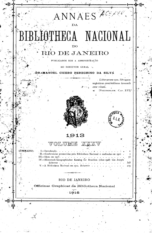 Anais da Biblioteca Nacional  1913
