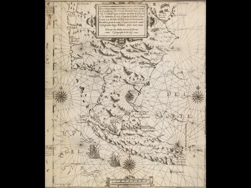 Reconocimento de los Estrechos de Magallanes y San Vicente: Mandado hazer por Su Mg. en el Real Conseio de Indias (...)  P. Teixeira Albernaz. 1621