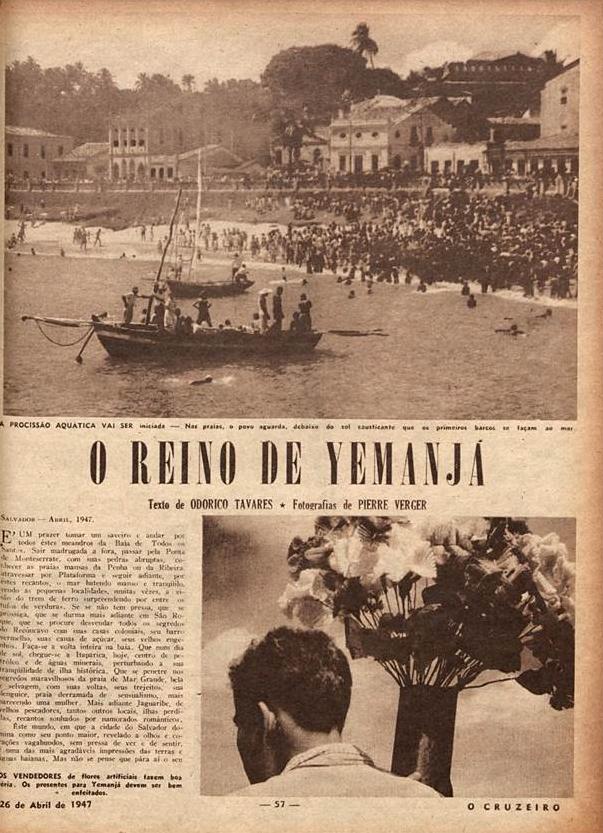 O reino de Iemanja  O Cruzeiro. 1947