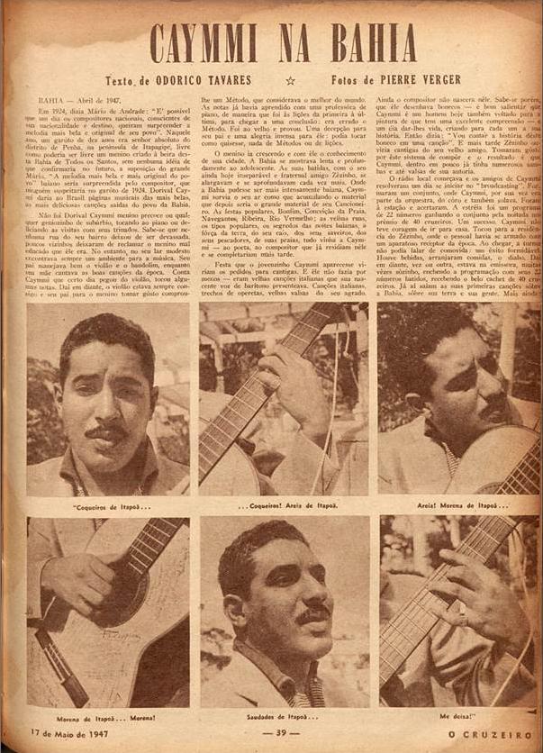 Caymmi na Bahia  O Cruzeiro. 1947