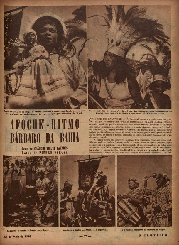 Afoché, ritmo barbaro da Bahia  O Cruzeiro. 1948