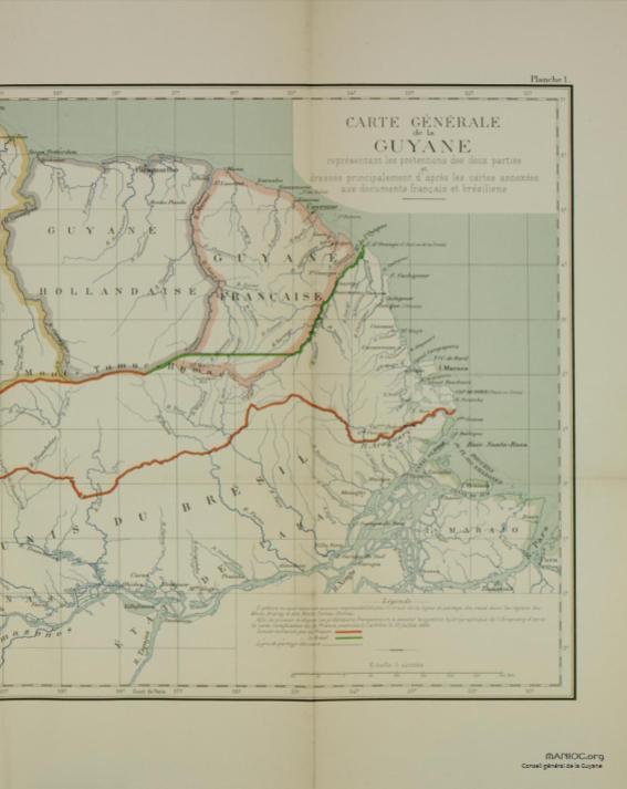Frontières entre le Brésil et la Guyane française