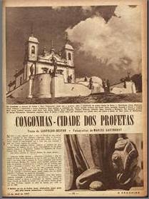 Congonhas. Cidade dos profetas. O Cruzeiro edição 25  1947