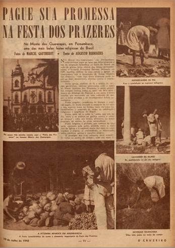 Pague sua pormessa na festa dos prazeres  O Cruzeiro edição 38. 1948