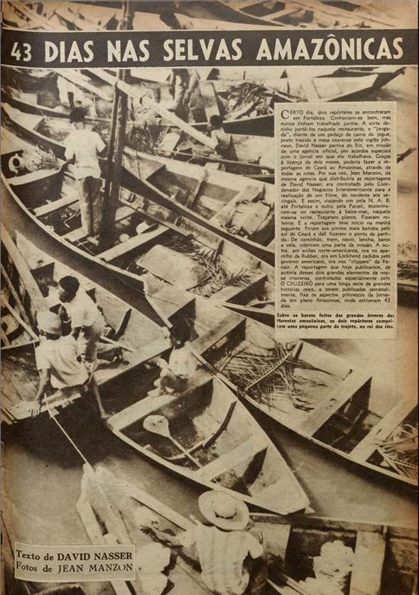 43 dias nas selvas amazônicas  O Cruzeiro edição 11. 1944