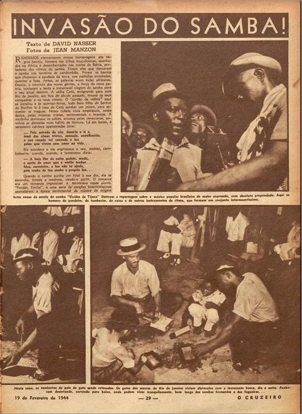 Invasão do samba!  O Cruzeiro edição 17. 1944