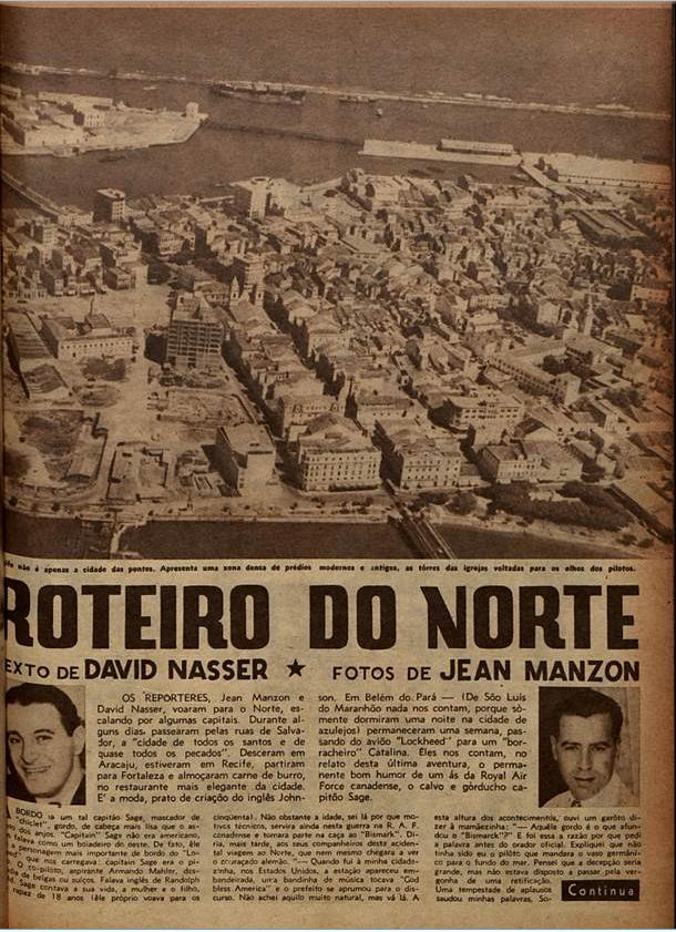 Roteiro do Norte  O Cruzeiro edição 33. 1944