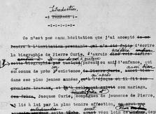 Papiers I — Oeuvres et travaux scientifiques. XIX-LXVIII-XX <br>  Pierre et Marie Curie