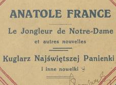 Kuglarz Najświętszej Panienki i inne nowelki. 1923