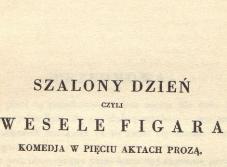 Wesele Figara. 1932