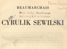 Cyrulik Sewilski. 1932