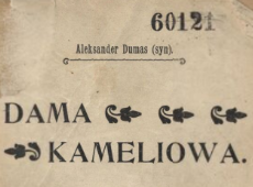 Dama kameliowa : romans. 1910