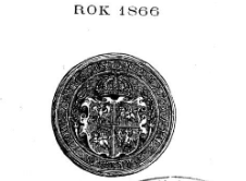Rocznik / Annuaire 1866