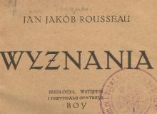 Wyznania T. 1. 1921