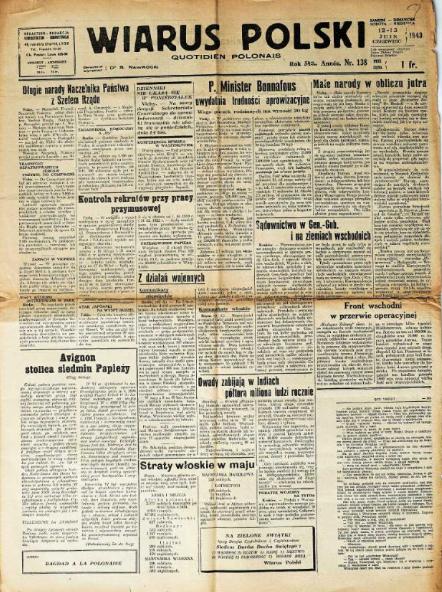 Wiarus polski <br>1943-1944