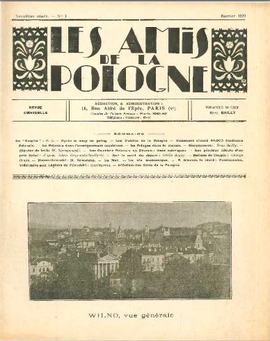 Les Amis de la Pologne <br>1929-1930