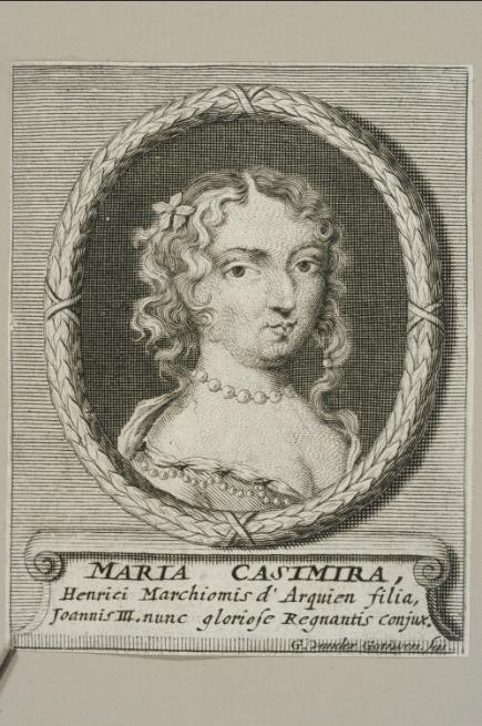 Maria Casimira, Henrici Marchionis d'Arquien filia <br> G. van der Gouwen. 1684