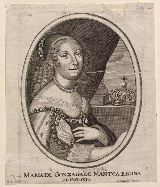 Maria de Gonzaga de Mantoa Regina de Polonia  P. Aubry