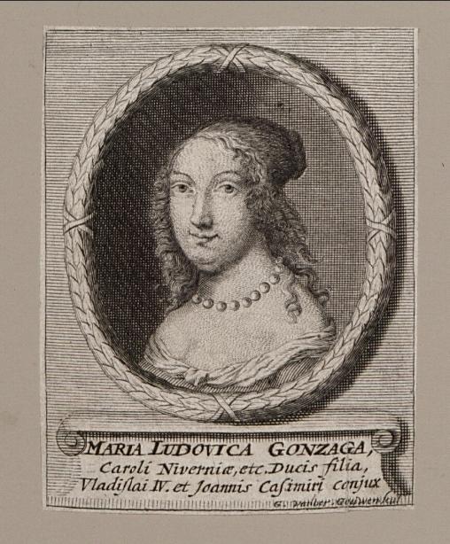 Maria Ludovica Gonzaga, Caroli Niverniae  G. van der Gouwen. 1684