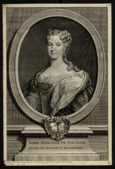 Marie Princesse de Pologne Reine de France et de Navarre  N. de Larmessin. 1724