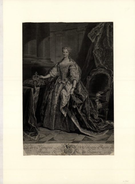 Marie Princesse de Pologne Reine de Franc(e) et de Navarre  J. Chéreau. 1730