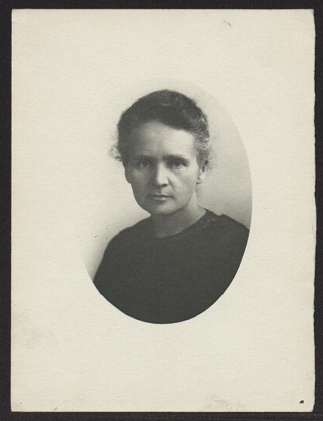 Portret Marii Skłodowskiej-Curie wykonany w Birmingham <br> 1913