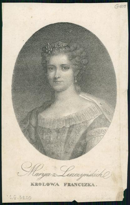 Marya z Leszczyńskich królowa francuzka  1850