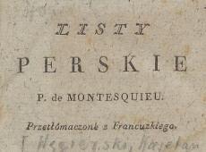 Listy perskie de Montesquieu. T. 1. 1804