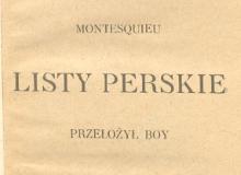 Listy perskie. 1918