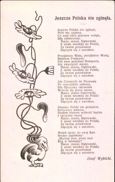 Jeszcze Polska nie zginęła  Józef Wybicki, 1910