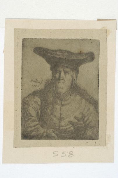 Popiersie starej kobiety w szerokim czepcu  1787
