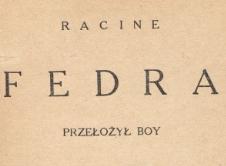 Fedra. 1924
