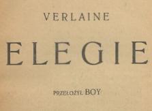 Elegie. 1919