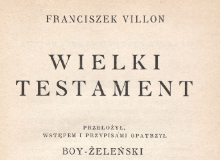 Wielki testament. 1927