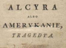 Alzyra : tragedya w piąciu aktach p. de Voltair. 1779