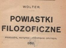 Powiastki filozoficzne T. 2. 1922