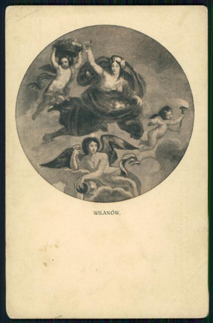 Wilanów : Marja Kazimiera pod postacią Flory z trzema synami jako uskrzydlonemi aniołkami : plafon w gabinecie królowej.