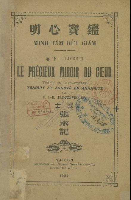 Minh tam buu giam : Liv. 2  1924