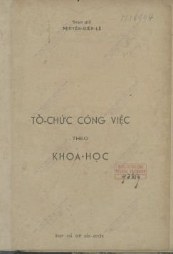 Tổ chức công việc theo khoa học Nguyễn Hiến Lê. 1950
