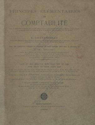 Principes élémentaires de comptabilité  E. Chataigneau. 1908