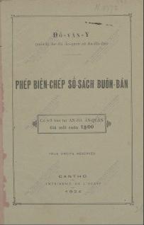 Phép Biên-chép Sổ-sách Buôn-bán  Đỗ Văn Y. 1924