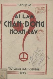 Ai làm chần Động hoàn cầu Tân Kim. 1939