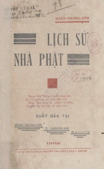 Lịch sử nhà phật  Đoàng Trung Còn. 1932